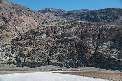 Photograph - Sea Level Sign Amargosa Mtns Badwater by Michael Bessler
