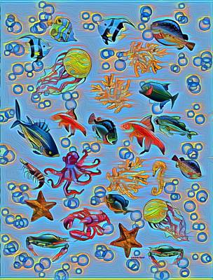 Painting - Sea Life Abstract by Gabriella Weninger - David