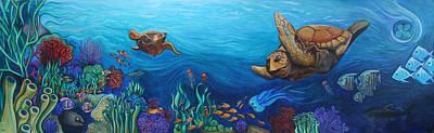 Sea Life Original by Kate Fortin