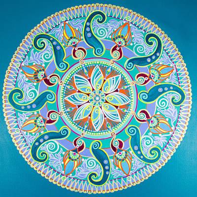 Wall Art - Painting - Sea Life Mandala by Angel Fritz