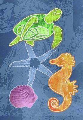 Digital Art - Sea Life by Mary Ogle