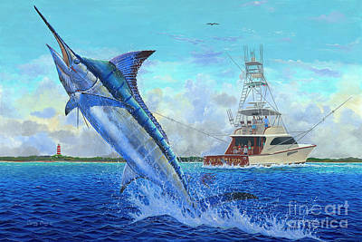 Blue Marlin Painting - Sea Lion by Carey Chen