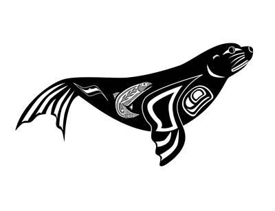 Sea Lion Drawing - Sea Lion by Fred Croydon