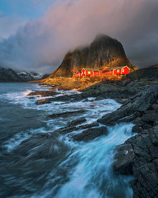 Crashing Photograph - Sea Lodges Of Lofoten by Tor-Ivar Naess
