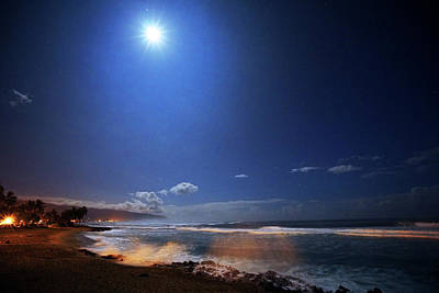 Haleiwa Photograph - Sea Mist And Moonbeams by Kevin Smith
