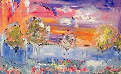 Painting - Sea Mist Over The Rose Garden  by Judith Desrosiers