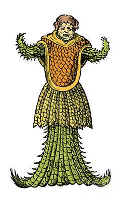 Sea Monk, Legendary Monster, 16th Art Print