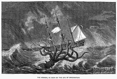 Sea Monster, 19th Century Art Print by Granger