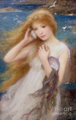 Gull Wall Art - Painting - Sea Nymph by William Robert Symonds