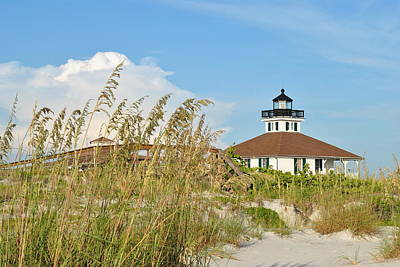Photograph - Sea Oats And Lighthouse by Steven Scott