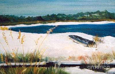 Bayside Painting - Sea Oats And The Gulf by Diane Fiore