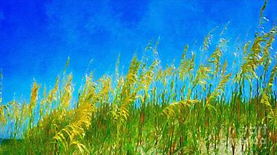 Photograph - Sea Oats At The Beach by Paul Wilford
