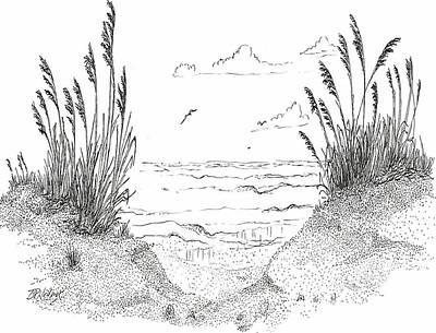 Sea Oats Print by Barney Hedrick