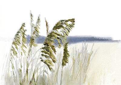 Digital Art - Sea Oats by Gina Harrison