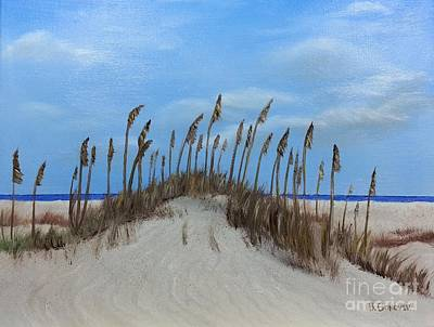 Painting - Sea Oats On Sand Dunes by Bev Conover