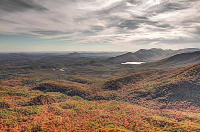 Caesars Head State Park Photograph - Sea Of Autumn by Jennifer Luzio