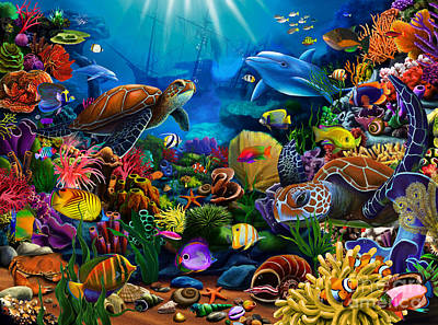 Swimming Digital Art - Sea Of Beauty by Gerald Newton