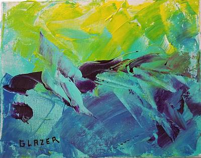 Wall Art - Painting - Sea Of Blue Toffee by Stuart Glazer