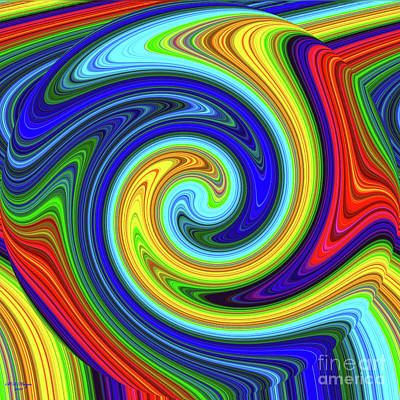 Hayes Digital Art - Sea Of Colors by Bill and Deb Hayes