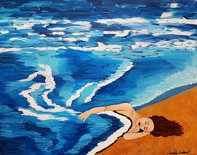 Painting - Sea Of Dreams  by Jennah Lenae