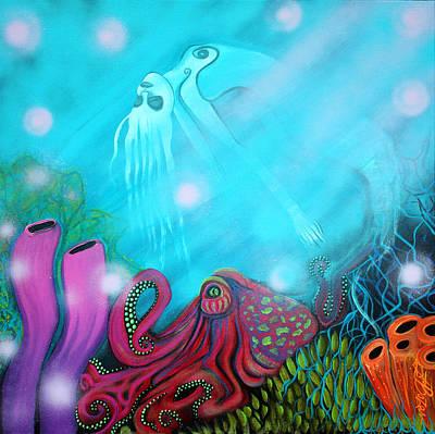Mermaid Painting - Sea Of Dreams by Laura Barbosa