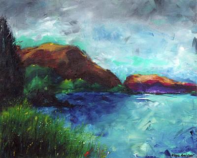 Sea Of Galilee And Mt Arbel Art Print by Noga Ami-rav
