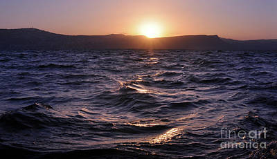 Photograph - Sea Of Galilee Sunset by Lydia Holly