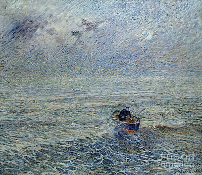 Nineteenth Century Painting - Sea Of Genoa by Plinio Nomellini