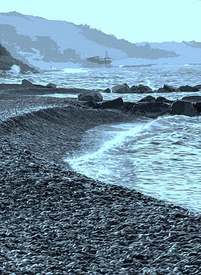 Painting - Sea Of Italy - Monochrome by Andrea Mazzocchetti