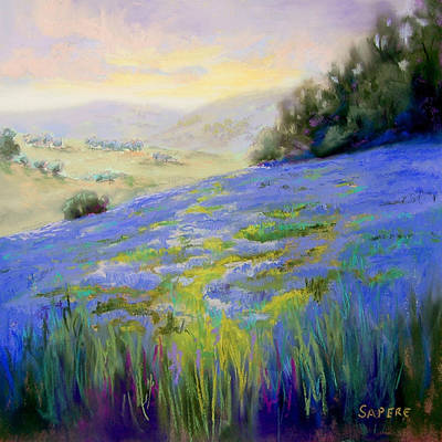 Lynee Sapere Wall Art - Painting - Sea Of Lupines by Lynee Sapere