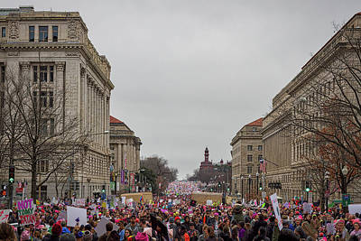 Photograph - Sea Of Marchers - Washington Women's March by Stuart Litoff