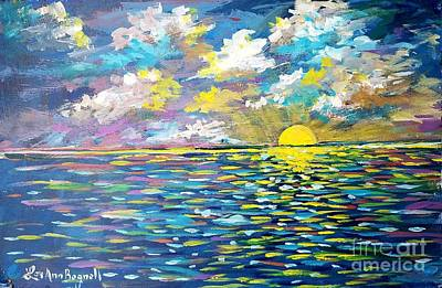 Painting - Sea Of Marmara Sunset by Lou Ann Bagnall