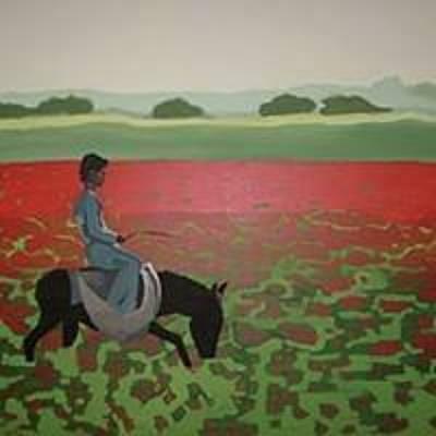 Painting - Sea Of Poppy by Sarah LaRose Kane