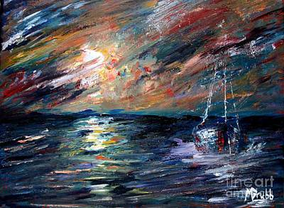 Great Mixed Media - Sea Of Storms by Michael Grubb