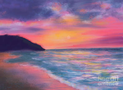 Painting - Sea Of Tranquility by Susan Sarabasha