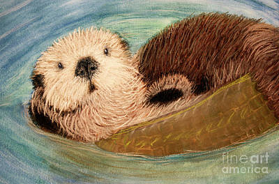 Otter Mixed Media - Sea Otter by Jacqueline Barden