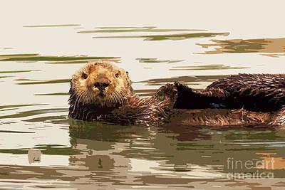 Digital Art - Sea Otter by Sharon Foelz