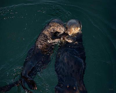Sea Otters II Color Art Print