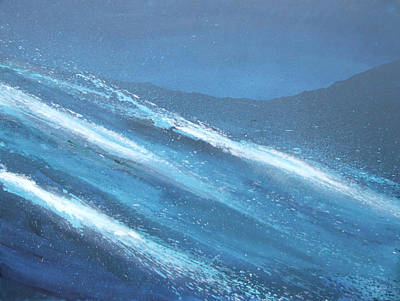 Crashing Wave Painting - Sea Picture I  by Alan Byrne