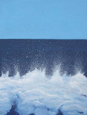 Spray Painting - Sea Picture V by Alan Byrne