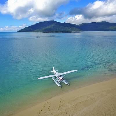 Photograph - Sea Plane At Langford Island, The Whitsundays by Keiran Lusk