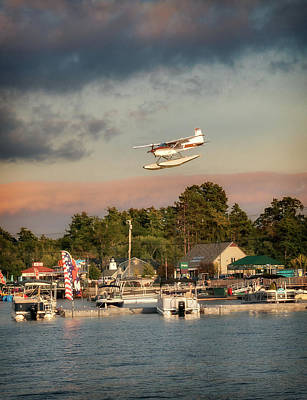 Photograph - Sea Plane Over The Causeway by Darylann Leonard Photography