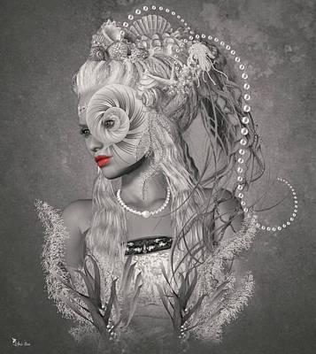 Digital Art - Sea Queen by Ali Oppy