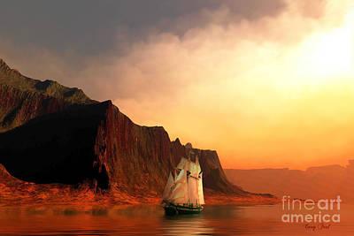 Boating Digital Art - Sea Raven by Corey Ford