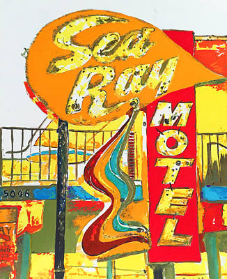 Painting - Sea Ray Motel by Beth Saffer