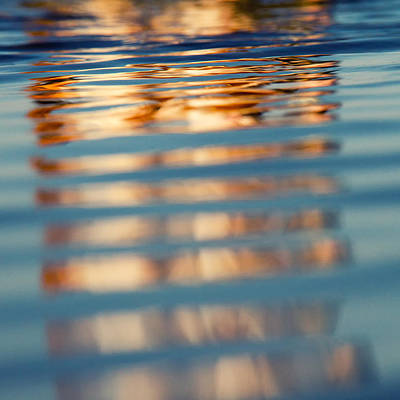 Spring Scenery Photograph - Sea Reflection 2 by Stelios Kleanthous