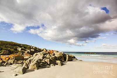 Photograph - Sea Rocks And Cloudy Sky by Jorgo Photography - Wall Art Gallery