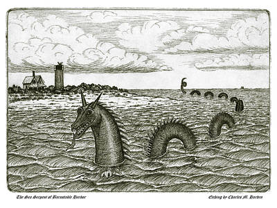 Mixed Media - Sea Serpent Of Barnstable Harbor by Charles Harden