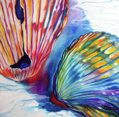 Painting - Sea Shell Abstract II by Marcia Baldwin