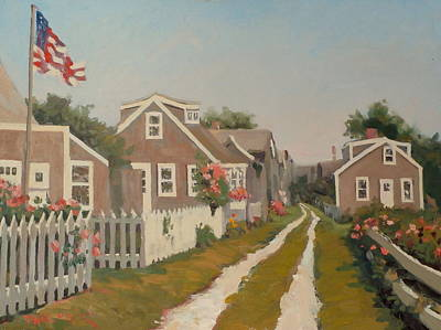 Cape Cod Painting - Sea Shell Lane by Dianne Panarelli Miller